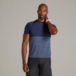 男款透氣跑步 T 恤 Kiprun Care - 軍藍色