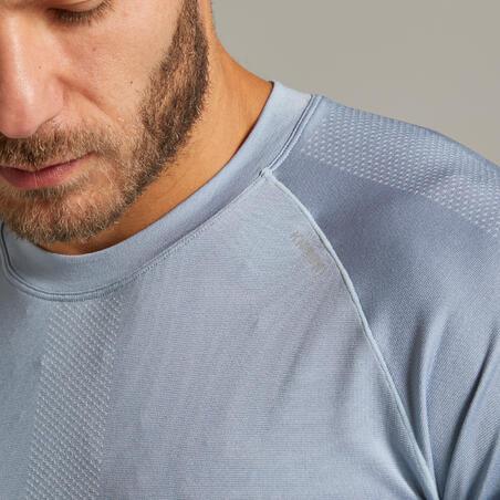 Kiprun Care Men's Running Breathable T-Shirt - slate blue