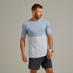 男款透氣跑步T恤Kiprun Care - 石板藍