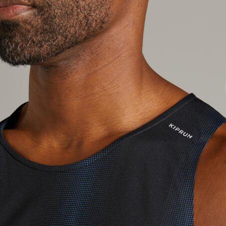 KIPRUN MEN'S BREATHABLE RUNNING TANK TOP LIGHT - BLACK