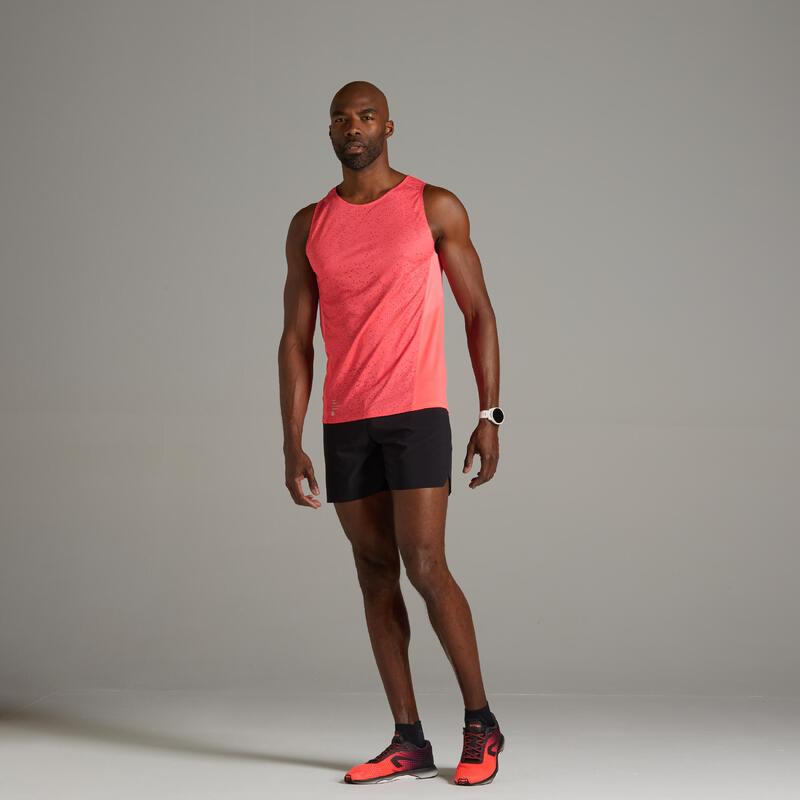 男款透氣跑步背心Kiprun Light - 霓虹粉