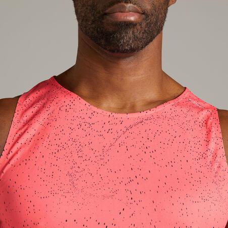 Kiprun Light Men's Running Breathable Tank Top - neon pink