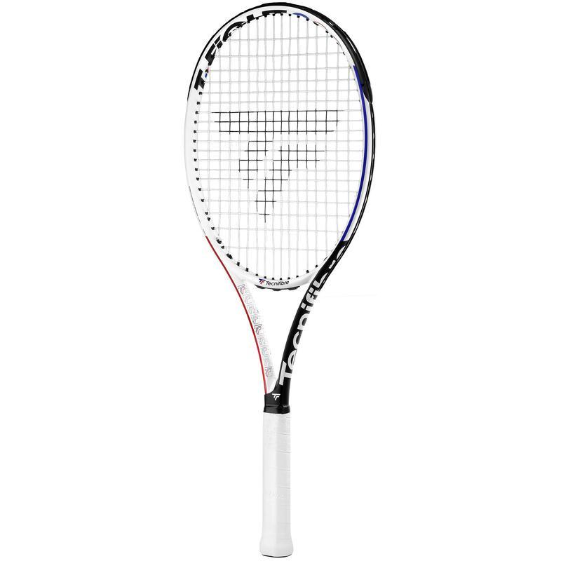 Racchetta tennis adulto T-FIGHT RS 300 non incordata bianco-nero