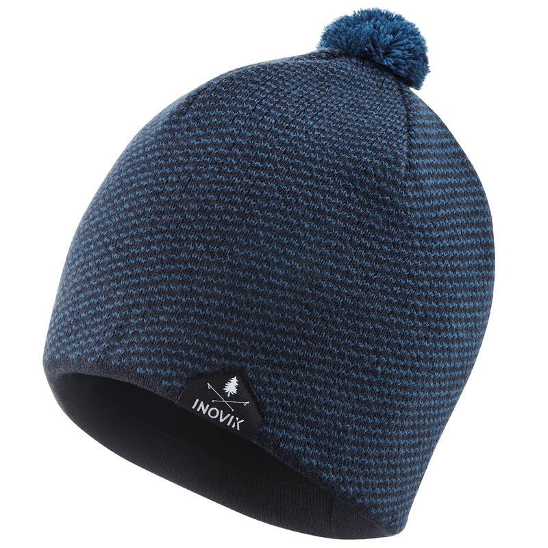 Kids' Warm Cross-country Ski Hat with Pompom XC S 100 Beanie - Blue