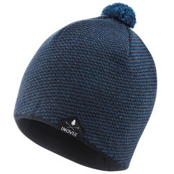 Bonnet de ski de fond chaud bleu à pompon - XC S BEANIE 100 - enfant