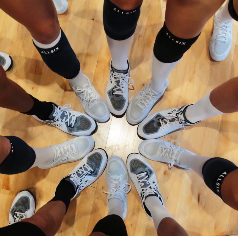 esprit d'équipe d'une équipe de volleyeurs