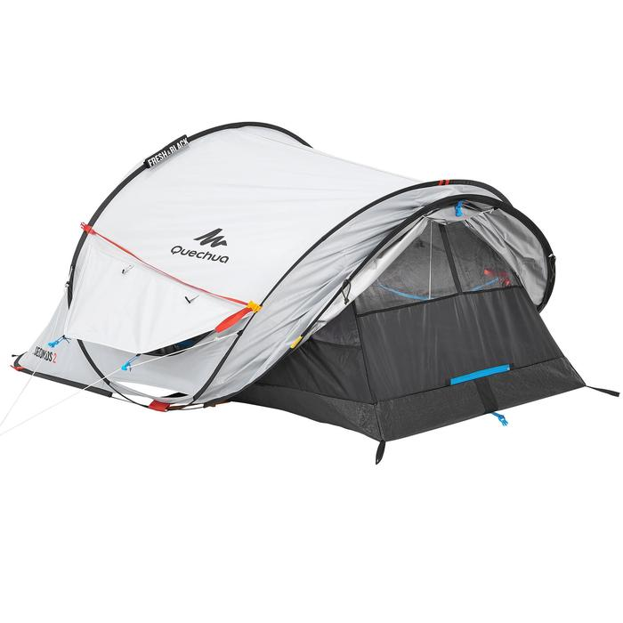 Tente de camping 2 SECONDS 2 FRESH&BLACK | 2 personnes blanche