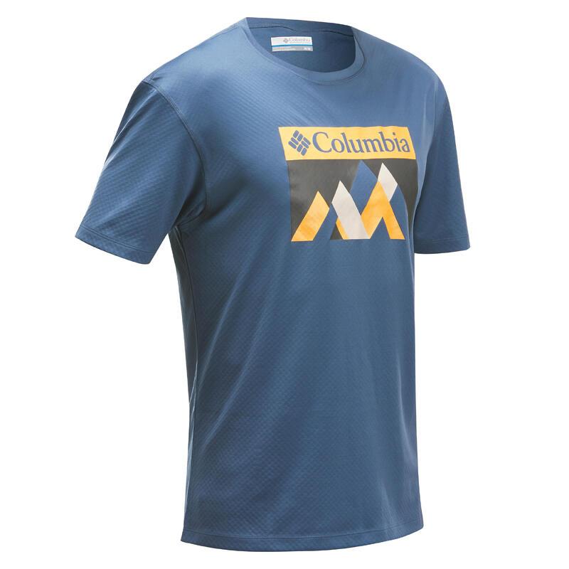 Tee-Shirt manches courtes de randonnée montagne - Columbia Bellport Homme Bleu