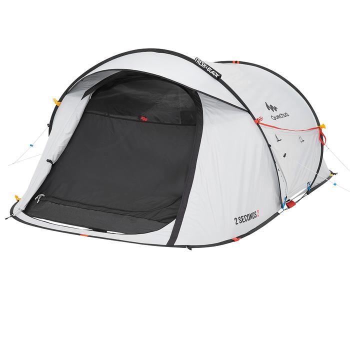 quechua tente de camping 2 seconds 2 fresh black 2 personnes blanche decathlon. Black Bedroom Furniture Sets. Home Design Ideas