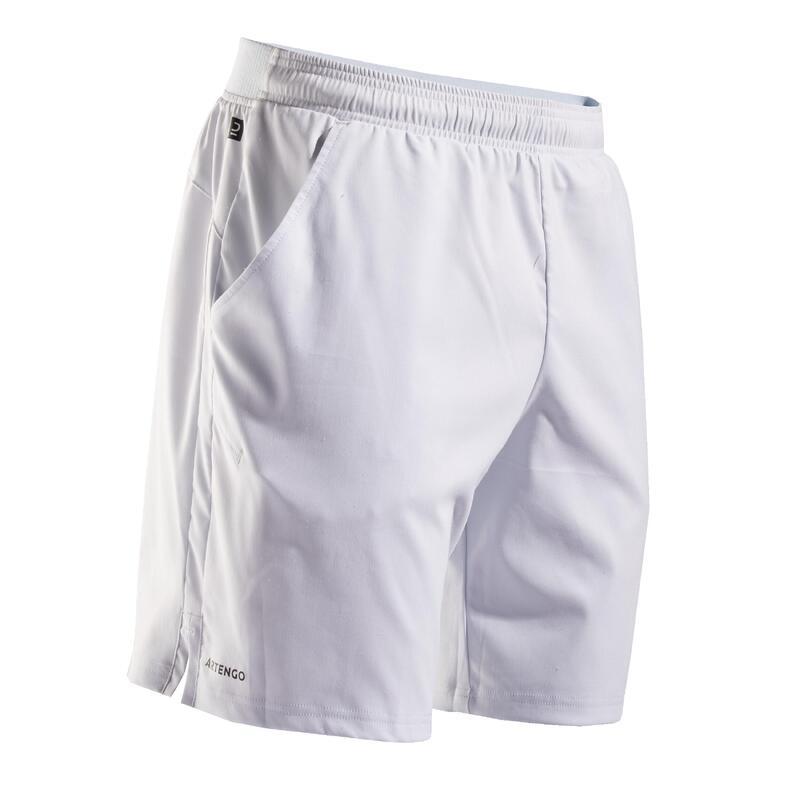 Şort Tenis Dry TSH500 Gri Bărbaţi