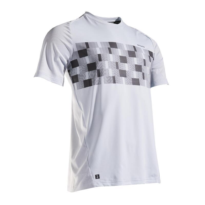 Men's Tennis T-Shirt TTS 500 Dry - Blue/Tartan