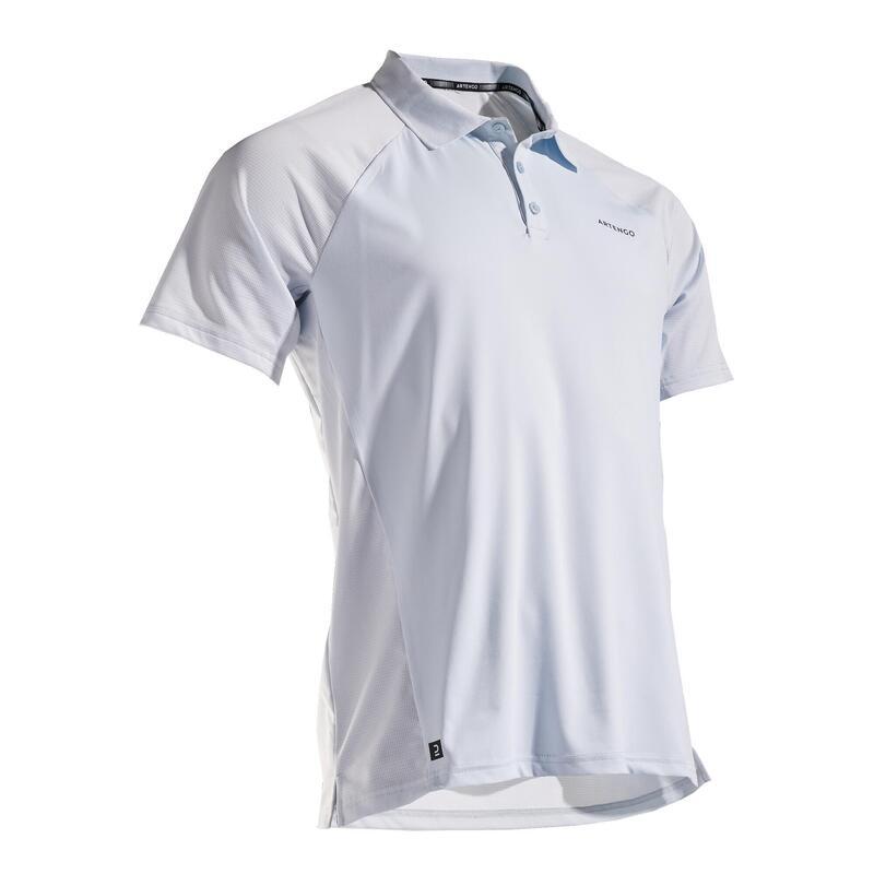 Polo de Tenis Artengo TPO 500 Dry Hombre Azul Claro