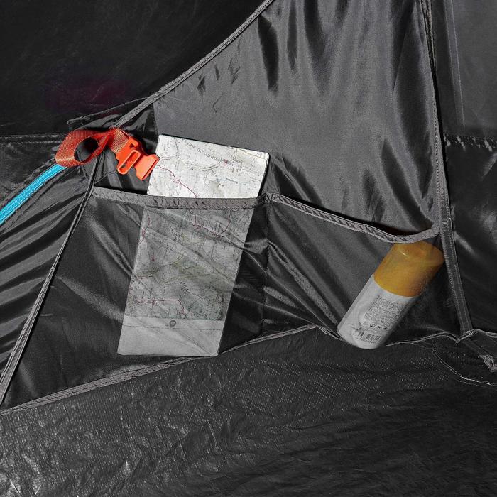 Pop up tent 2 Seconds 2 Fresh & Black I 2 personen wit - 192845
