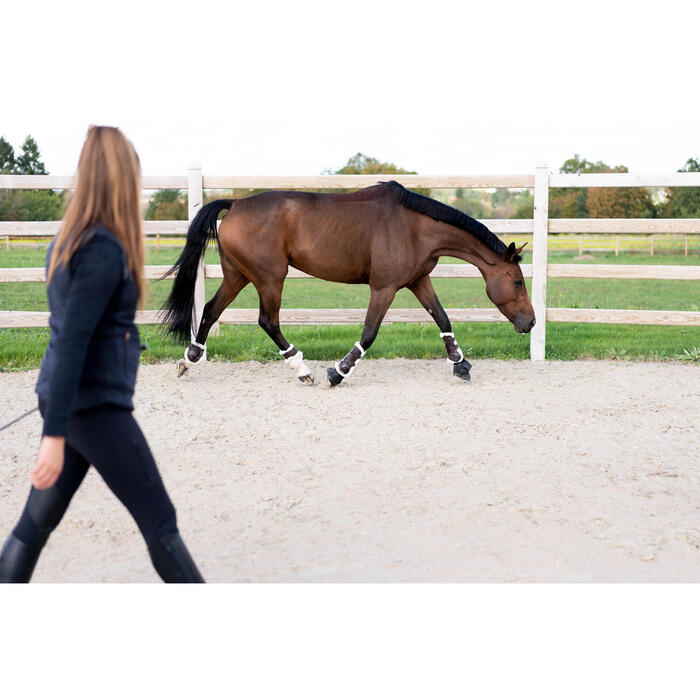 Streichkappen 580 Synthetik-Lammfell Pferd braun