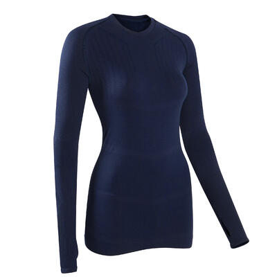Sous-vêtement haut thermique adulte Keepdry 500 bleu foncé