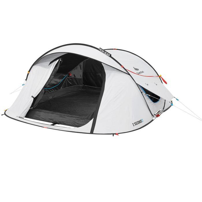 Pop up tent 2 Seconds 3 Fresh & Black I 3 personen wit - 192895