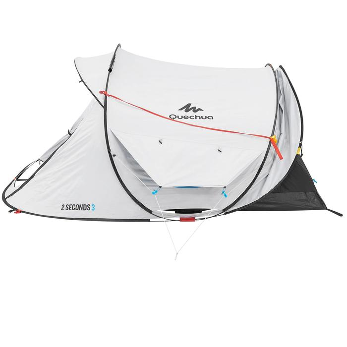 Pop up tent 2 Seconds 3 Fresh & Black I 3 personen wit - 192896