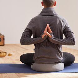 ZAFU / COUSSIN DE YOGA ET MEDITATION ECO-CONCU, GRIS CHINE