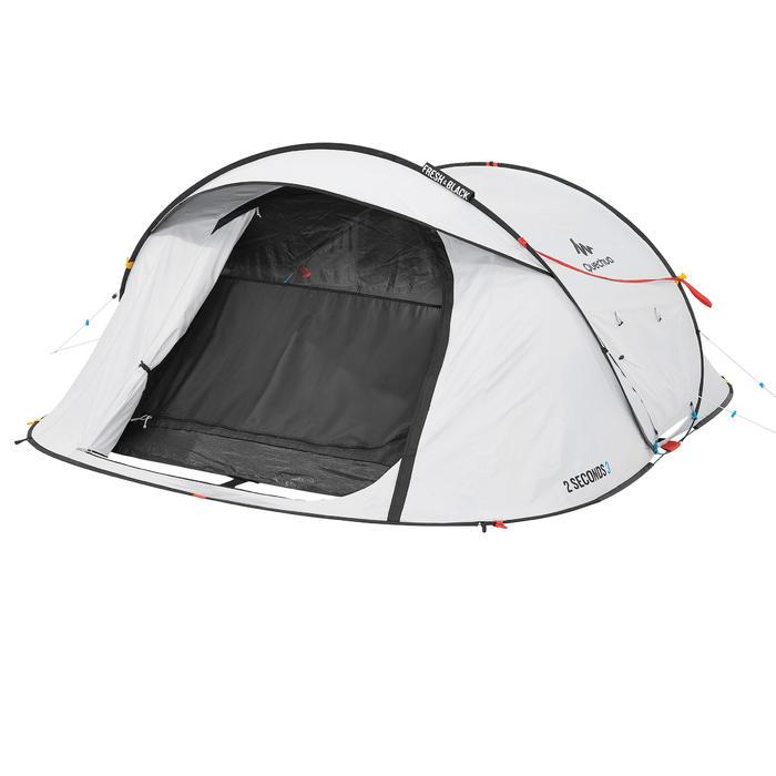 Pop up tent 2 Seconds 3 Fresh & Black I 3 personen wit - 192904