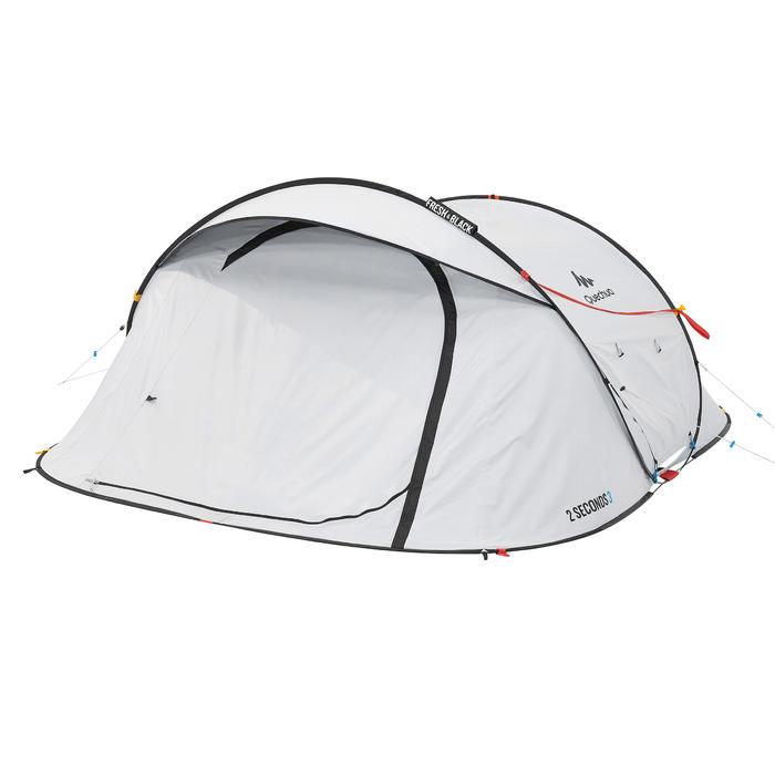 Pop up tent 2 Seconds 3 Fresh & Black I 3 personen wit - 192905