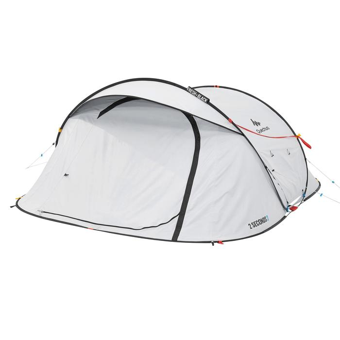 Pop up tent 2 Seconds 3 Fresh & Black I 3 personen wit