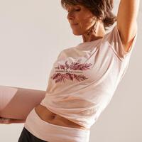 חולצת טי ליוגה עדינה לנשים - ורוד