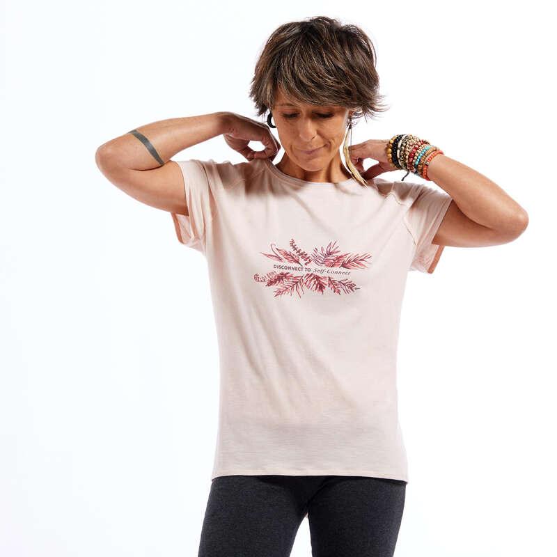 ŽENSKA ODJEĆA ZA JOGU Joga - Majica kratkih rukava ženska KIMJALY - Majice za jogu
