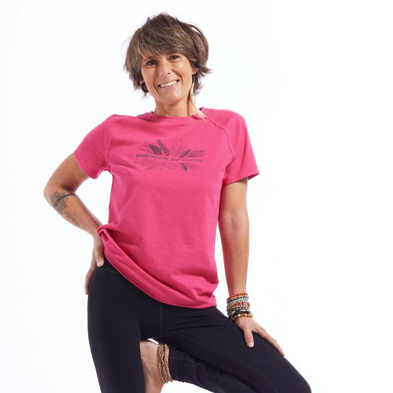 Women's Eco-Friendly Gentle Yoga T-Shirt - Pink
