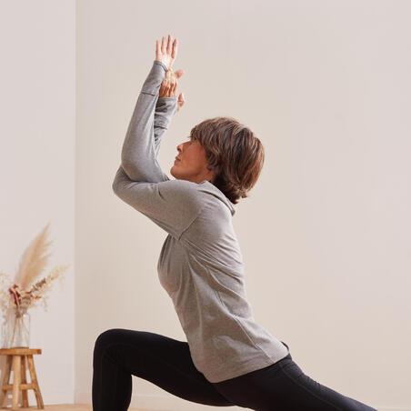 Long-sleeved organic cotton yoga t-shirt
