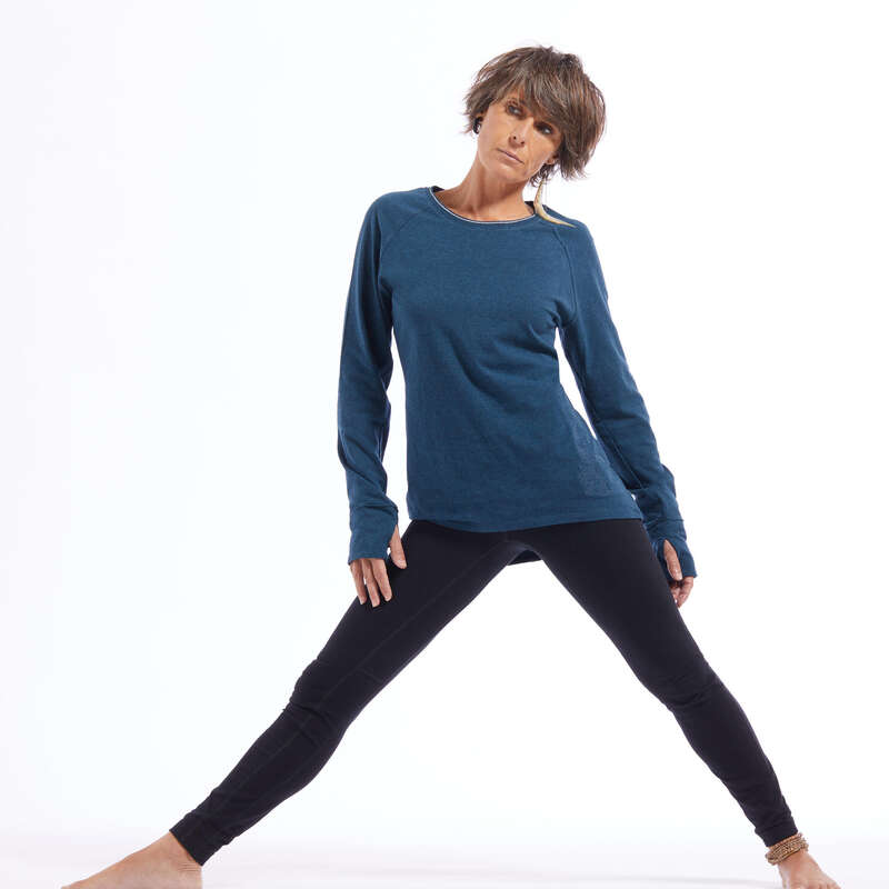 Női jóga ruházat Jóga - Női hosszú ujjú jógapóló KIMJALY - Jóga