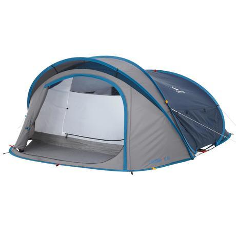 tente de camping 2 seconds xl 3 air 3 personnes bleu quechua. Black Bedroom Furniture Sets. Home Design Ideas