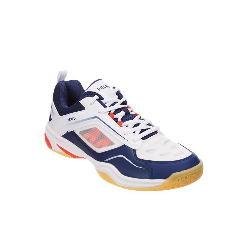 Chaussures De Badminton BS 560 Lite Homme - Bleu Marine/Blanc