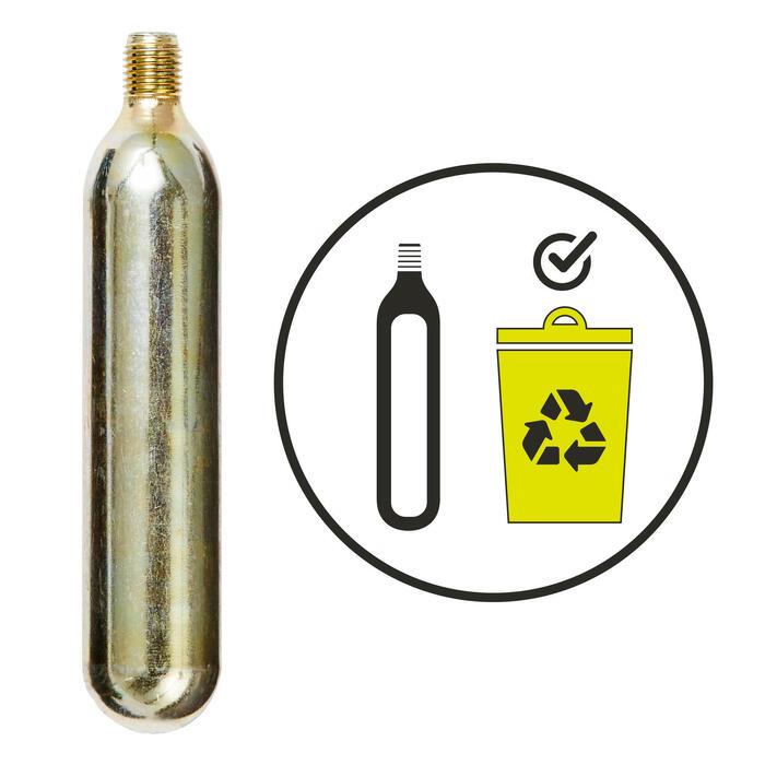 Compacte CO2-pomp voor MTB-banden + patroon 20 g