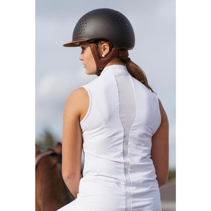 Débardeur concours équitation femme 500 blanc