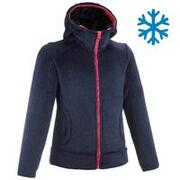 Kids' Warm Hiking Fleece Jacket - MH500 Aged 7-15 - Blue