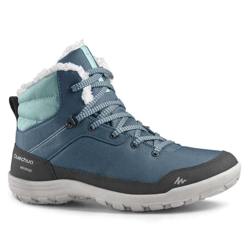 ЖЕНСКИЕ БОТИНКИ / ЗИМНИЕ ПОХОДЫ Большие размеры - Ботинки SH100 WARM mid жен. QUECHUA - Большие размеры