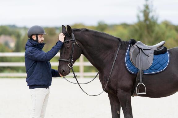 équitation-panoplie-cheval-tapis-amortisseur-bridon-filet