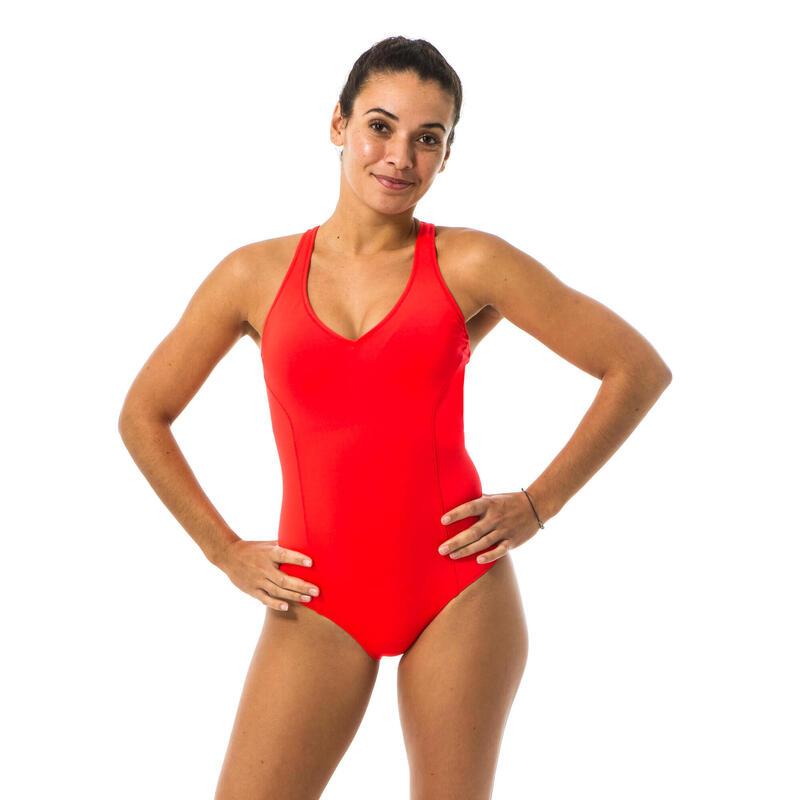 Maillot de bain 1 pièce de natation femme Pearl rouge