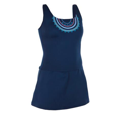 Heva skirt swimsuit - Cola blue