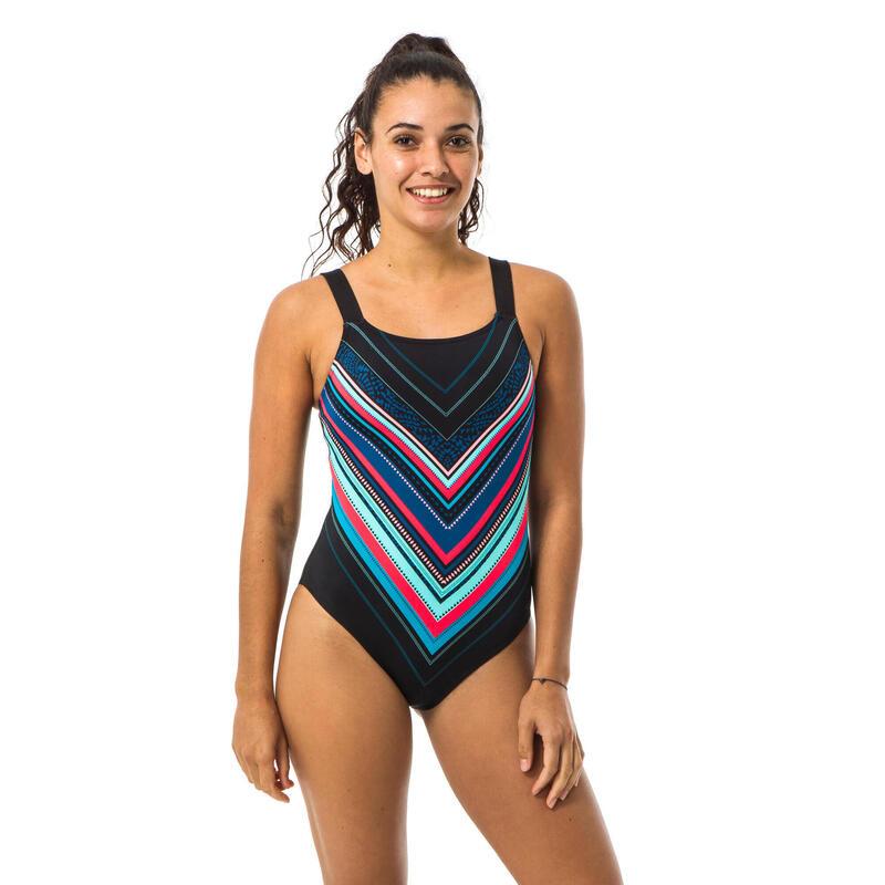 Maillot de bain de natation femme 1 pièce Taïs Mexa noir