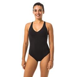 Maillot de bain 1 pièce de natation femme Pearl noir