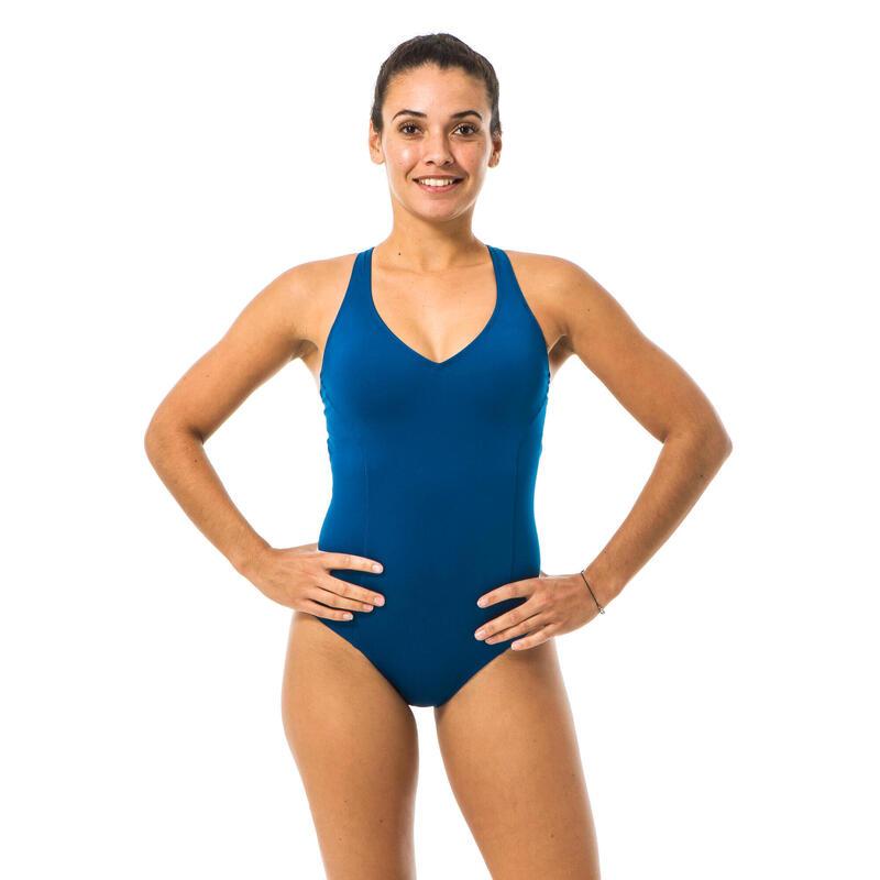 Sportbadpak voor zwemmen dames Pearl blauw