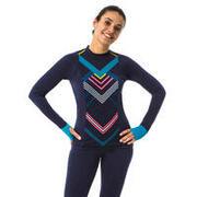 Women's Una Ryma swimming top - navy blue