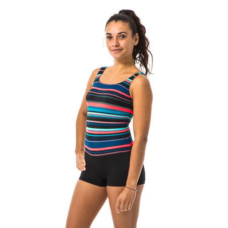 Women's Swimming 1-piece Shorty Swimsuit Heva Mexi - Black