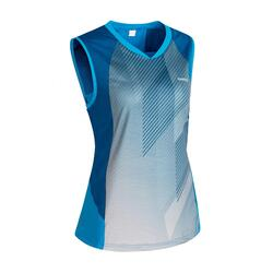 T-shirt de Badminton 900 Mulher Azul