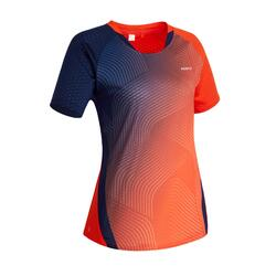 T-shirt de Badminton 560 Mulher Vermelho Azul marinho