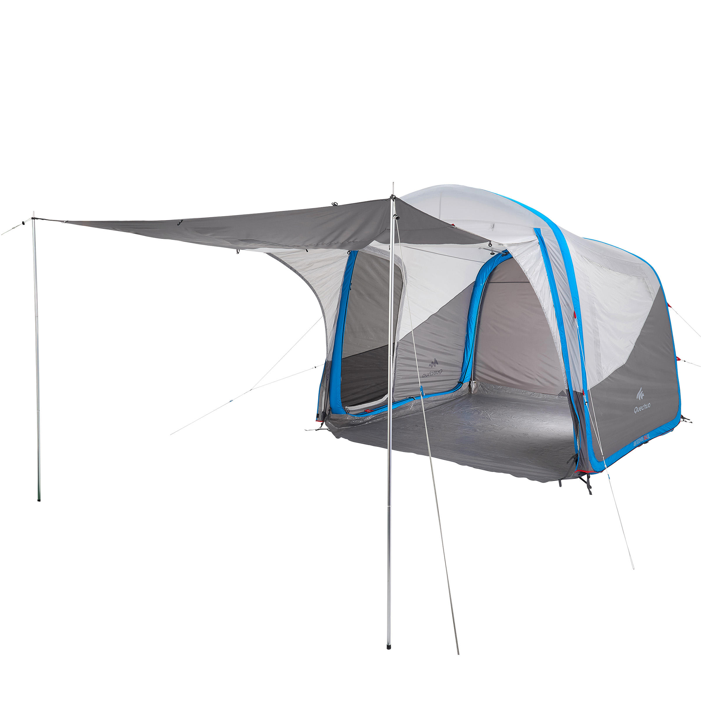 Quechua Shelter met deuren Air Seconds XL 6 personen SPF30 grijs