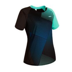 Badminton T-Shirt 560 Damen grün/marineblau
