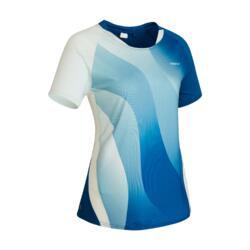 T-shirt de Badminton 560 Mulher Azul
