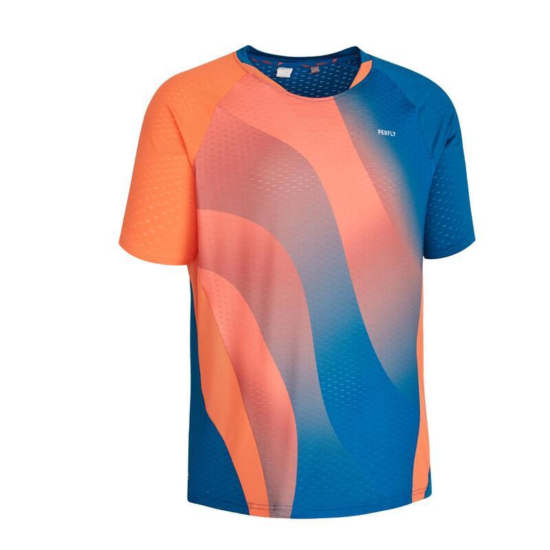 Badminton T-shirt voor heren 560 rood/blauw